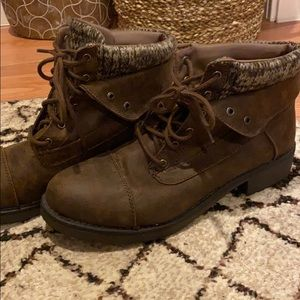 Faded Glory brand short brown boots